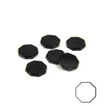 Gemstone Flat Back Flat Top Straight Side Stone - Octagon 07.5MM BLACK ONYX