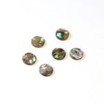 Shell Flat Back Flat Top Straight Side Stone - Round 07MM ABALONE