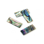 Shell Flat Back Flat Top Straight Side Stone - Cushion 18x7MM ABALONE