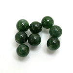 Gemstone 1-Hole Ball 08MM TAIWAN JADE