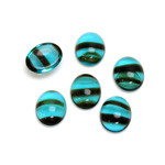 Glass Medium Dome Cabochon - Oval 10x8MM BLUE TORTOISE