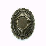 Metalized Plastic Engraved Setting - Oval 47x35MM ANTIQUE Brass