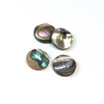 Shell Flat Back Flat Top Straight Side Stone - Round 12MM ABALONE
