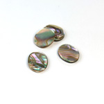 Shell Flat Back Flat Top Straight Side Stone - Oval 12x10MM ABALONE