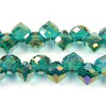 Chinese Cut Crystal Pendant - Drop 07.5MM EMERALD AB