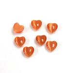 Fiber-Optic Cabochon - Heart 06MM CAT'S EYE COPPER