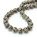 Gemstone Bead - Smooth Round 12MM DALMATION