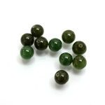 Gemstone 1-Hole Ball 06MM TAIWAN JADE (nephrite) MOHS Scale of Hardness 6 -6.5