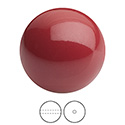 Preciosa Crystal Nacre Gem Bead - Round 04MM CRANBERRY