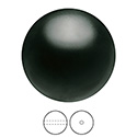 Preciosa Crystal Nacre Gem Bead - Round 04MM MAGIC BLACK
