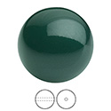 Preciosa Crystal Nacre Gem Bead - Round 08MM MALACHITE
