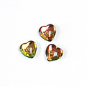 Czech Glass Cabochon with Reverse Intaglio - Heart 08MM EYE on VITRAIL MEDIUM