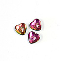 Czech Glass Cabochon with Reverse Intaglio - Heart 08MM STAR on VITRAIL MEDIUM
