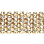 Preciosa Rhinestone Chain - 5 Row PP18 CRYSTAL-RAW
