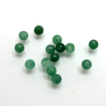 Gemstone 1-Hole Ball 04MM GREEN AVENTURINE