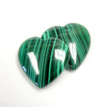 Gemstone Cabochon - Heart 25MM MALACHITE