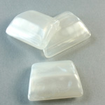 Plastic Bead - Mixed Color 2-Hole Smooth Trapezoid 24x18MM MOON WHITE
