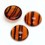 Glass Medium Dome Cabochon - Round 18MM TORTOISE