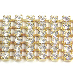 Preciosa Rhinestone Chain - 6 Row PP18 CRYSTAL-RAW