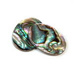 Shell Flat Back Flat Top Straight Side Stone - Oval 30x22MM ABALONE