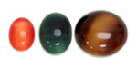 Brownhorn and Spinel Cabochons
