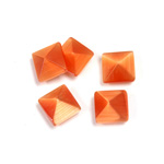 Fiber-Optic Cabochon - Pyramid Top 08x8MM CAT'S EYE COPPER