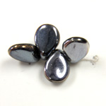 Preciosa Czech Pressed Glass Bead - Pip 5x7MM HEMATITE/BROWN