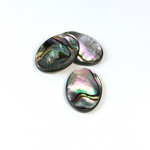 Shell Flat Back Flat Top Straight Side Stone - Oval 18x13MM ABALONE