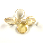 Preciosa Czech Pressed Glass Bead - Pip 5x7MM BLOND FLARE ON CRYSTAL