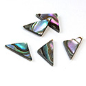 Shell Flat Back Flat Top Straight Side Stone - Triangle 14x7MM ABALONE