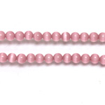 Fiber-Optic Synthetic Bead - Cat's Eye Smooth Round 04MM CAT'S EYE LT PINK