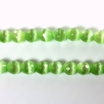 Fiber Optic Synthetic Cat's Eye Bead - Round Faceted 06MM CAT'S EYE LT GREEN
