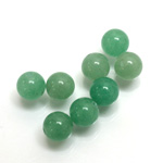 Gemstone 1-Hole Ball 08MM GREEN AVENTURINE