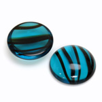 Glass Medium Dome Cabochon - Round 20MM BLUE TORTOISE
