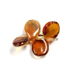Preciosa Czech Pressed Glass Bead - Pip 5x7MM AMBER CRYSTAL (23401)