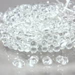 Preciosa Czech Glass Seed Bead - Farfalle 03.2x6.5MM CRYSTAL 00050