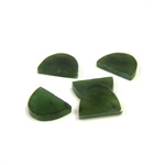 Gemstone Flat Back Flat Top Straight Side Stone - Half Oval 10x7MM TAIWAN JADE