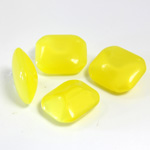 Glass Point Back Buff Top Stone Opaque Doublet - Cushion Octagon 12x10MM YELLOW MOONSTONE