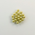 Czech Glass Pearl No-Hole Ball - 2.5MM LT OLIVE 70457