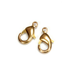 Brass Lobster Claw Clasp - 15MM