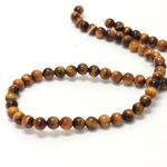 Gemstone Bead - Smooth Round 06MM TIGEREYE
