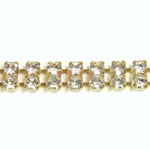 Preciosa Rhinestone Chain - 2 Row PP18 CRYSTAL-RAW