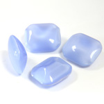 Glass Point Back Buff Top Stone Opaque Doublet - Cushion Octagon 12x10MM BLUE MOONSTONE