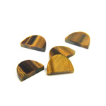 Gemstone Flat Back Flat Top Straight Side Stone - Half Oval 10x7MM TIGEREYE