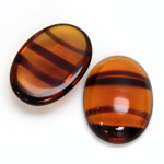 Glass Medium Dome Cabochon - Oval 25x18MM TORTOISE