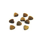 Gemstone Flat Back Flat Top Straight Side Stone - Heart 05x4.5MM TIGEREYE