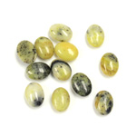 Gemstone Cabochon - Oval 08x6MM YELLOW TURQUOISE