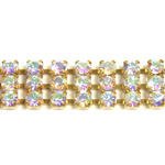 Preciosa Rhinestone Chain - 3 Row PP18 CRYSTAL AB-RAW