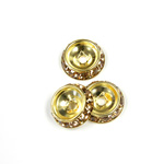 Czech Rhinestone Rondelle Shrag Rivoli Back Setting - Round 12MM outside w 08mm (ss38) Recess LT COLORADO TOPAZ-RAW