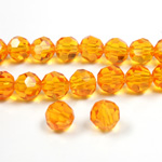 Chinese Cut Crystal Bead 32 Facet - Round 06MM TOPAZ